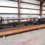 """Machining 12"""" stainless cladded propeller shaft"""